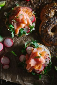 Bagel with smoked salmon by svariophoto   Stocksy United