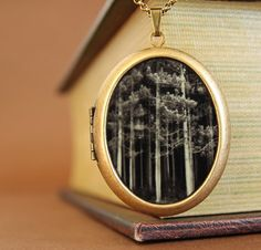 Grande Photo Locket  If You Go Into The Forest door DearestMine