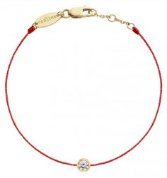 RedLine Pure String Diamond Bracelet - Red