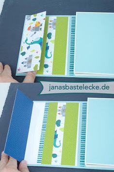 JanasBastelecke: Kreativer Montag 115 - Fotobox mit Minialbum für Baby