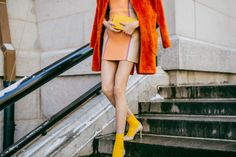 Socks and pumps...what do you think? #NYFW #StreetStyle