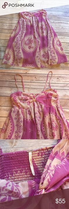 Free People Summer Dress Excellent condition like new. Gorgeous summer dress. Light weight and cool. Free People Dresses