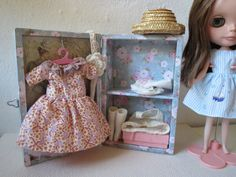1/6 Scale Doll Trunk OOAK Blythe Sindy Barbie by Nordcraft on Etsy, $43.00
