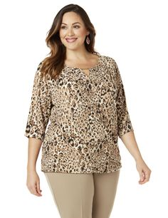 ad7b51125db Black Label Cheetah Top. Catherines Plus SizeStylish ...