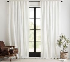 Broadway Pole-Pocket Curtain, Set of 2 - Ivory Off White Curtains, Neutral Curtains, Long Curtains, Rod Pocket Curtains, Curtains Living, Office Curtains, White Velvet Curtains, Black Curtains Bedroom, Houses