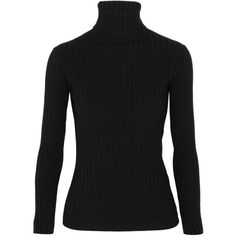 Acne Studios Ribbed merino wool-blend turtleneck sweater ($160) ❤ liked on Polyvore featuring tops, sweaters, turtleneck, black, turtleneck tops, slim fit sweaters, rib sweater, ribbed turtleneck and ribbed sweater #acneneck
