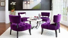 In today�s article we are going to show you photos of lovely purple dining room inspirations. For sure you have seen how purple wonderfully transforms a bedroom into a luxurious getaway through our previous articles. You have seen how it�