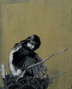 """Miss Link, """"Nesting"""", Australian Stencil Art Prize Stencil Graffiti, Stencil Art, Graffiti Art, Stencils, Desenho Pop Art, Murals Street Art, International Artist, Color Stories, Beauty Art"""