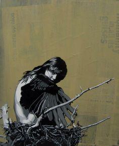 "Miss Link, ""Nesting"", Australian Stencil Art Prize"