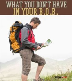 What You Don't Have In Your Bug Out Bag | List Of Essential Supplies For Emergency Preparedness By Survival Life http://survivallife.com/2014/07/20/what-you-dont-have-in-your-bug-out-bag/