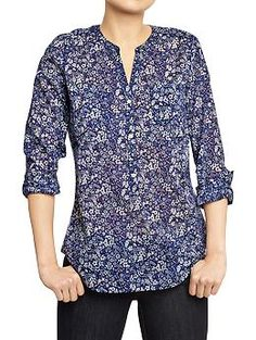 Women's Floral-Printed Blouses | Old Navy This is an exact copy of a J. Crew print from last year. $19