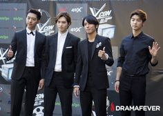 CNBLUE, Lee Seung Gi, Girls' Generation, BTS, and SPICA heat up the KCON 2014 red carpetThe boys of CNBLUE, including K-drama stars Jung Yong Haw from You're Beautiful and Kang Min Hyuk from Heirs, looked as stylish and suave as ever.