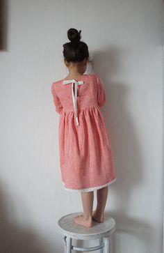 Linen Girl Dress Linen Dress Linen Dress for Girls Flower