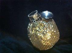 Petit VINTAGE GATE TOP Gold SEQUIN Metal Mini MESH COIN BAG Purse Wallet B062 #Handmade #CoinBag