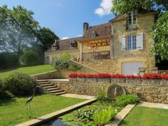 Aquitaine, Property Prices, Property For Sale, Garage Guest House, Goldfish Pond, Built In Cupboards, Stone Barns, Open Fireplace, French Property
