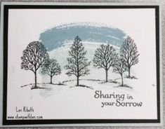 Stampin' Up Sympathy card using Lovely as a Tree, Work of Art, and Thoughts and Prayers. by bethany