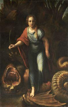 Saint Margaret, Raphael (1518)