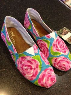 Lilly painted toms