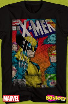 Jim Lee X-Men Vs X-Men T-Shirt: X-Men Mens T-Shirt X-Men Geeks: These celebrity characters have been seen in films and comic books and the design and illustration of the art on this product makes it a must have to your men's fashion t-shirts. 80s Tees, Marvel Xmen, Marvel Clothes, Book Shirts, Gamers, Jim Lee, Man Vs, Super Hero Costumes, X Men