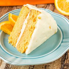 A recipe for Orange Cream Cake. Super moist orange cake topped with orange buttercream frosting making it an easy dessert recipe everyone will love!
