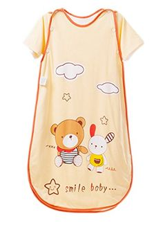 Cartoon Bear Cotton Summer Baby Toddler Sleeping Bag Sack Clothes with Zipper - $35.99