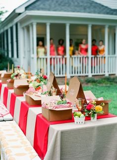 If the weather's sunny, we love the idea of hosting a tea party outside!