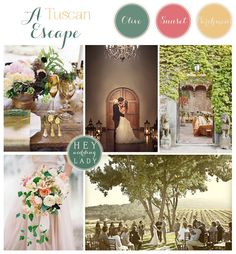 Sun-Drenched Tuscany Inspired Destination Wedding