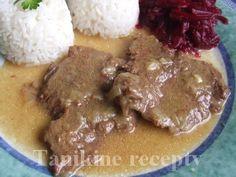 Prírodné hovädzie rezne :: Recepty Flank Steak, Food 52, Beef Recipes, Stew, Cravings, Pork, Dishes, Meat, Chicken