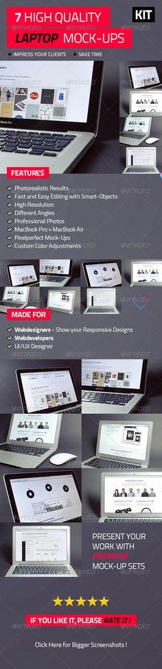 7 High Quality Laptop Mock-Ups - Laptop Displays