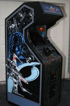 Star Wars is an arcade game produced by Atari Inc. and released in 1983. The game is a first person space simulator, simulating the attack on the Death Star from the final act of Star Wars Episode IV: A New Hope. The game is composed of 3D color vector graphics. More info: http://en.wikipedia.org/wiki/Star_Wars_%281983_video_game%29