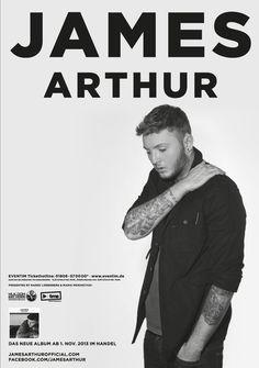 Tickets JAMES ARTHUR Tour 2014   fünf Termine in Deutschland   exklusiver Vorverkauf