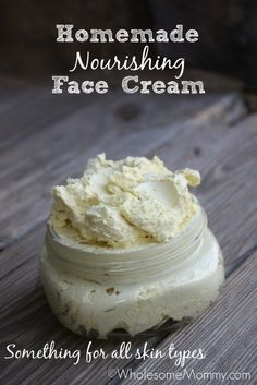 Homemade Nourishing Face Cream From WholesomeMommy.com