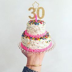 """""""My best friend turns 30 today! Baking was always a college tradition for us. No reason to stop now! And it's nice I can afford more toppings! Cool Birthday Cakes, Birthday Stuff, Party Stuff, Baked Goods, My Best Friend, Cupcake Cakes, Cake Decorating, Sweet Treats, I Am Awesome"""