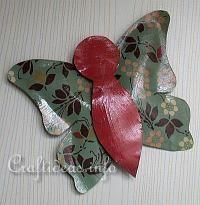 Faux Metal Butterfly