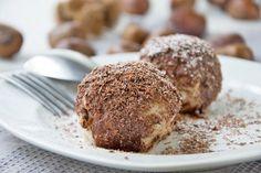 Maroniknödel - Rezept | GuteKueche.at Muffin, Dessert Recipes, Bread, Breakfast, Food, Gastronomia, Light Desserts, Gluten Free Cooking, Dessert Food