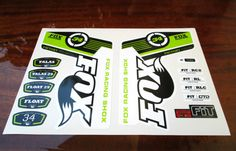 Fox Racing Shox 34 Fork Replacement/Colored sticker on от Velomoto