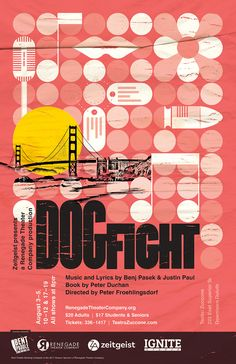 """Dogfight"" theater poster design for Renegade Theater Company in Duluth, MN. 2017."