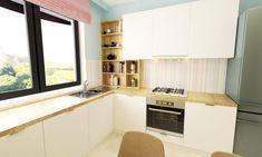 Pastel Kitchen, Design Projects, Kitchen Cabinets, Budget, Interior Design, Medium, Home Decor, Nest Design, Decoration Home