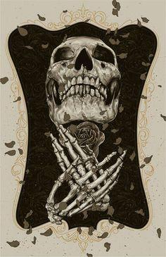 Skull/Hands Crossed
