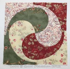 Inklingo Yin Yang Quilt Block by Cathi at Quilt Obsession 2012
