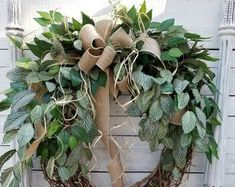 Items similar to BEST SELLER Front door wreath, Greenery Wreath - Wreath Great for All Year Round, Everyday Burlap Wreath, Door Wreath, Front Door Wreath on Etsy Wreaths For Front Door, Door Wreaths, Front Porch, Greenery Wreath, Grapevine Wreath, Wedding Wreaths, Farmhouse Wall Decor, Summer Wreath, Christmas Wreaths