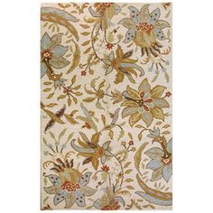 Found it at Wayfair - Bashian Rugs Valencia Raja Ivory Rug Living Room Carpet, Living Room Decor, Living Spaces, Wool Area Rugs, Wool Rug, Valencia, Tan Rug, Traditional Rugs, Carpet Design