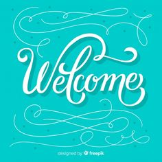 Creative welcome lettering concept Free . Welcome Font, Welcome Banner, Welcome Poster, Welcome Pictures, Welcome Images, Summer Font, People Hugging, Hand Lettering Quotes, Typography