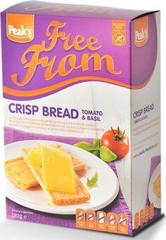 PEAK'S crackers légers tomate et basilic 130grCrackers croustillants tomate et basilic à base de farine de maïs et de riz convient au régime sans gluten et sans oeufs. Source d'énergie délicieuse et saine. www.chockies.net Crackers, Crisp Bread, Low Fodmap, Cereal, Snack Recipes, Chips, Gluten Free, Breakfast, Granen
