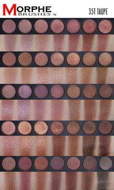 Morphe Brushes 35T Taupe Palette Review and Swatches