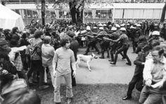 1970 PSU Student Strike. Courtesy City of Portland Archives, Oregon, A2004-005