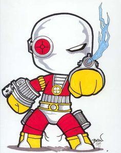 Chibi-Deadshot. by hedbonstudios.deviantart.com on @deviantART
