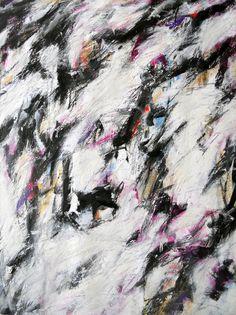 Original: acrylic / oil pastel / graphite / colored pencil / rubbing wax crayon