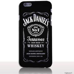 Housse Silicone iPhone 6s Plus 5.5 pouces - Old Jack Noire. #JackDaniels #iPhone6sPlus #Case