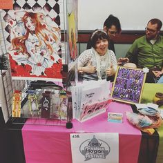 Zoey has some amazing skills! #olycomicsfest #comics #localartist #olywa #mymixx96 #anime #manga